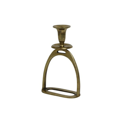 brass stirrup candle holder