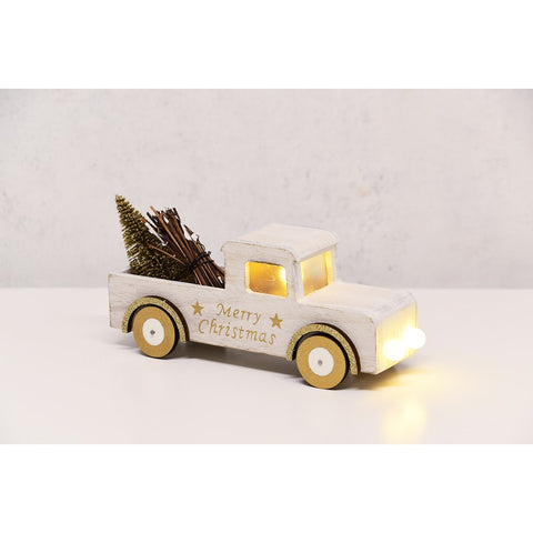 truck w/ tree and lights gold