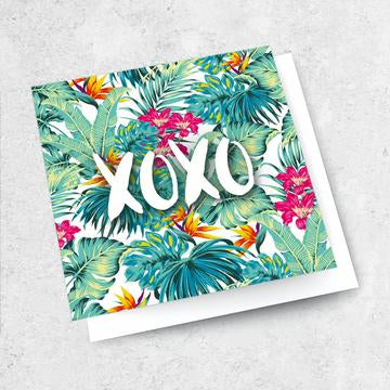 xoxo bright card