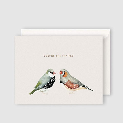 PRETTY FLY greeting card
