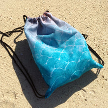 Turquoise Fish scale - Drawstring bag