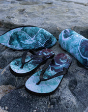 Fish scale - turquoise - Save Our Seas Flip-Flops