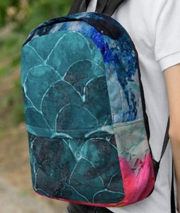 Fish scale Backpack / Artwork by Fay Ninon