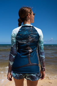 Free as the Sea - Women's Rash Guard