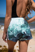 Turquoise fish scale - Women's Athletic Short Shorts