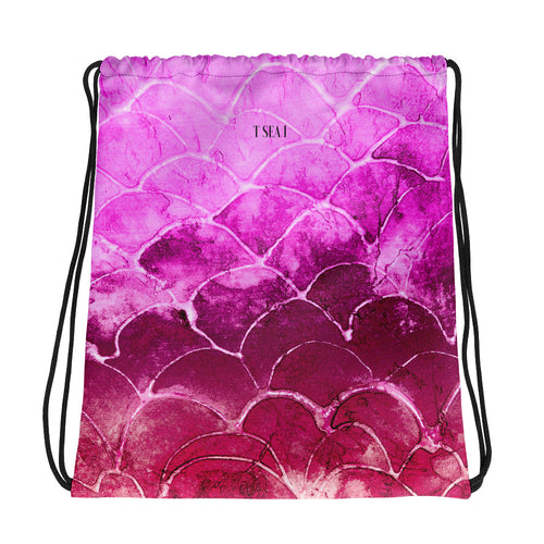 Fuschia - Drawstring bag