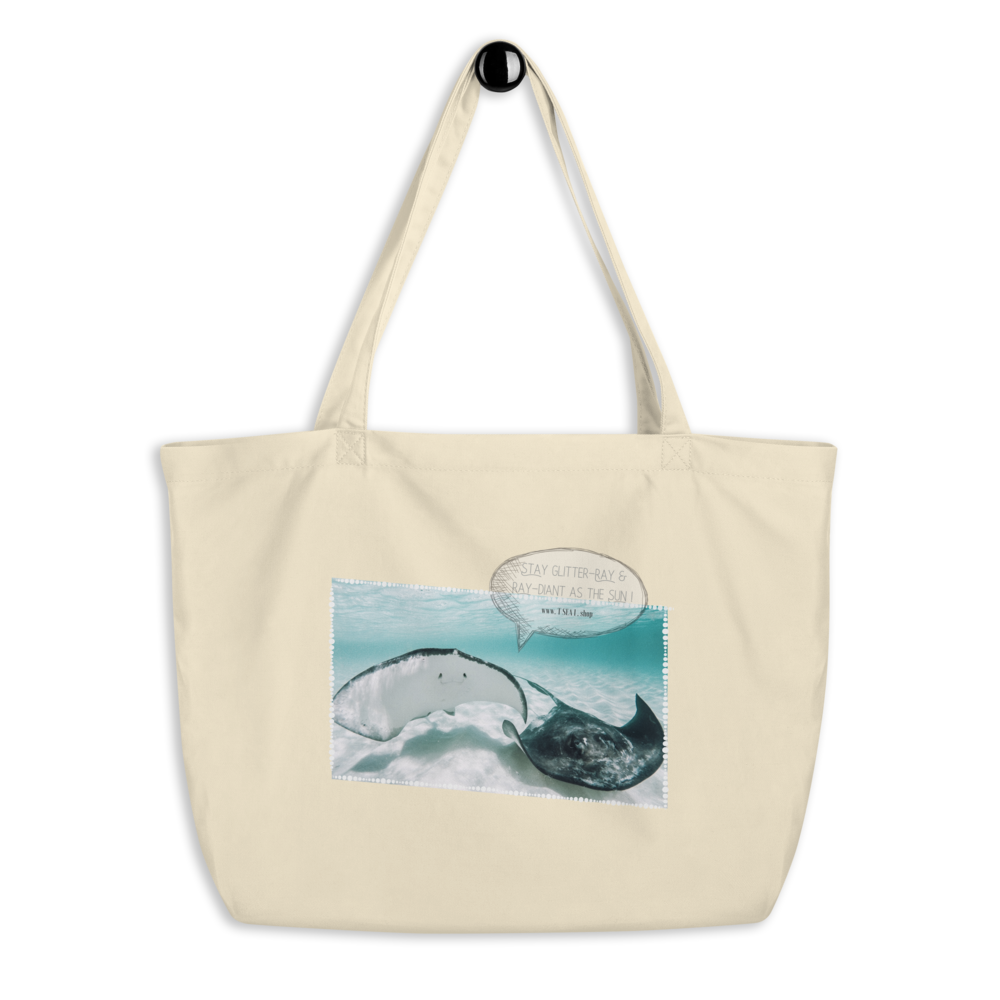 Ray-diant - Large organic tote bag