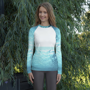 Submerged white - Women's Rash Guard