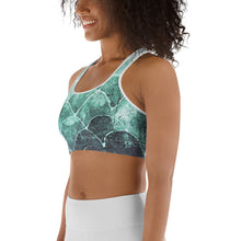 Turquoise Fish Scale - Sports bra - underwater