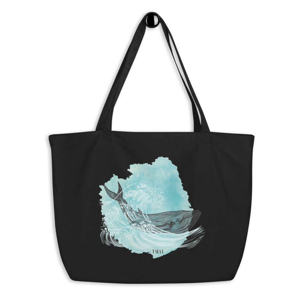 Equwhaleity - Large organic tote bag