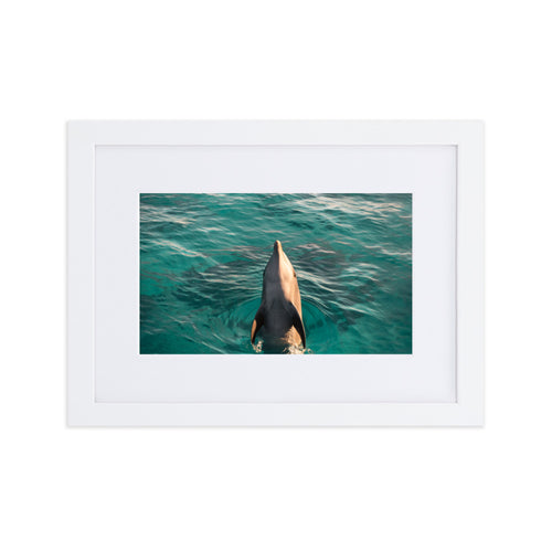As free as the sea Matte frame print by Justin Okoye