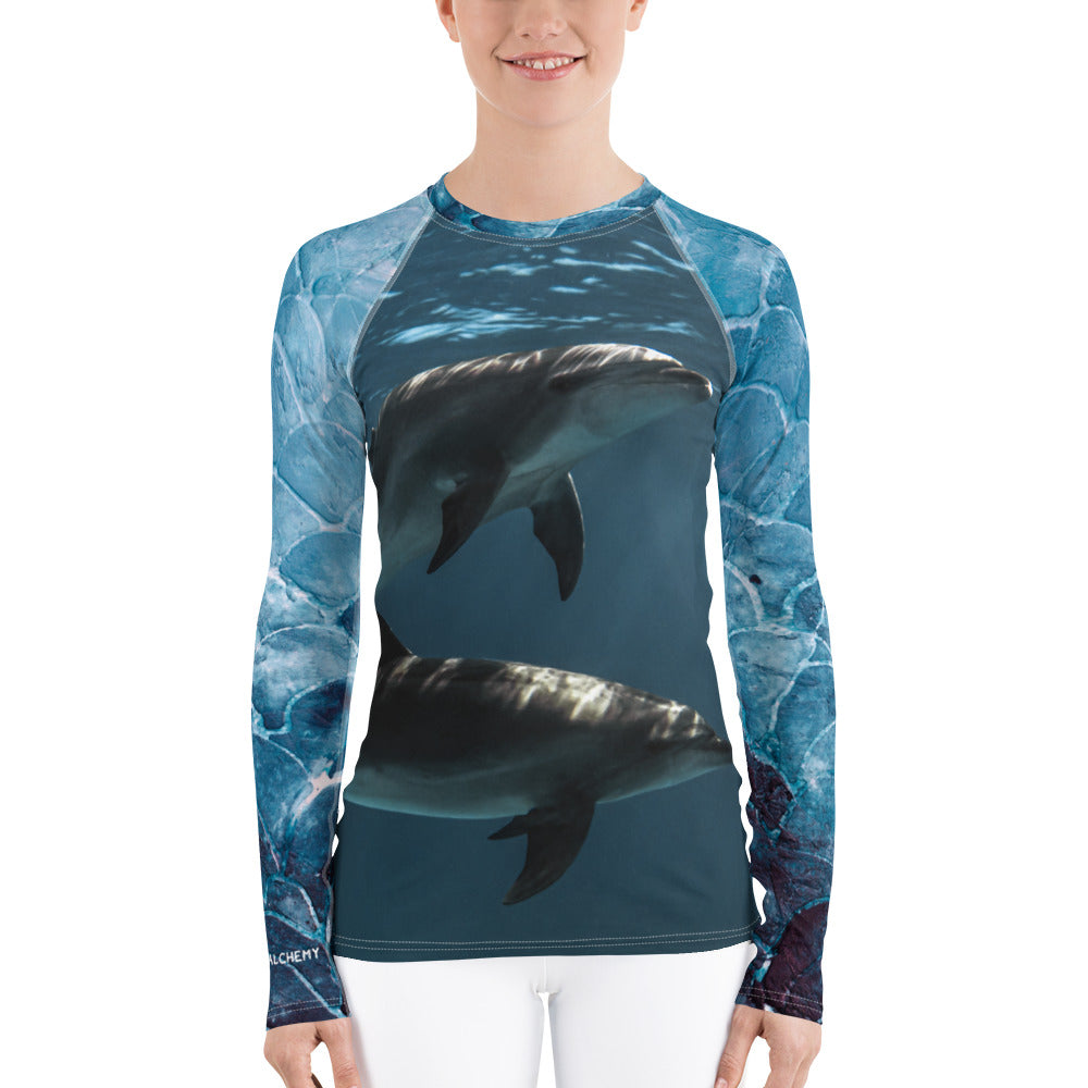 Dolphintastic Women's Rash Guard