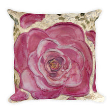 Double Sided Rose - Turquoise Mermaid scale Pillow