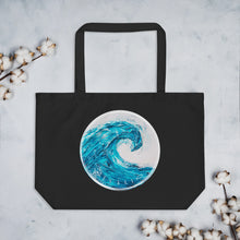 Making waves Large organic tote bag