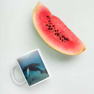 Whales Mama and baby mug - by Justin Okoye