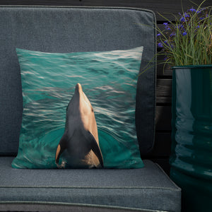 As free as the Sea - Reversible Dolphin & Ray - Pillow