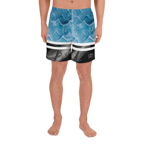 Bleu Fish school - Men's Athletic Long Shorts
