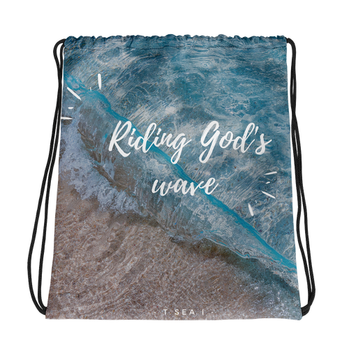 Riding God's wave - Drawstring bag