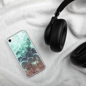 Turquoise Fish scale iPhone Case