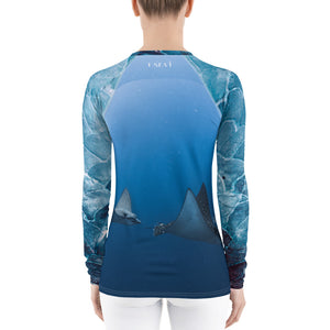 Eagle Ray Blue Women's Rash Guard