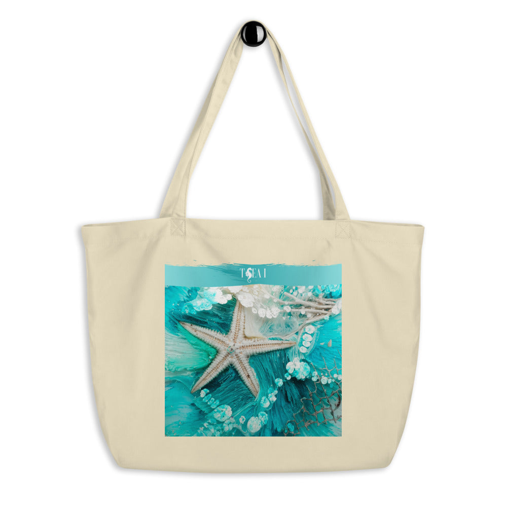 Sea-Star Large organic tote bag