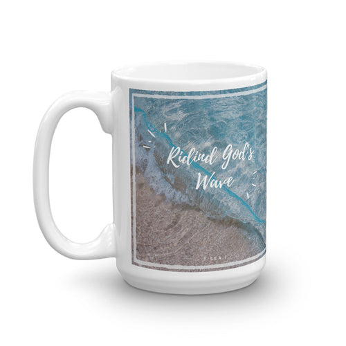 Riding God's wave - Mug