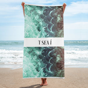 Fish scale Turquoise - Beach Towel