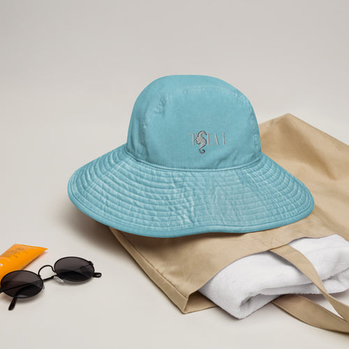 T SEA I - Wide brim bucket hat