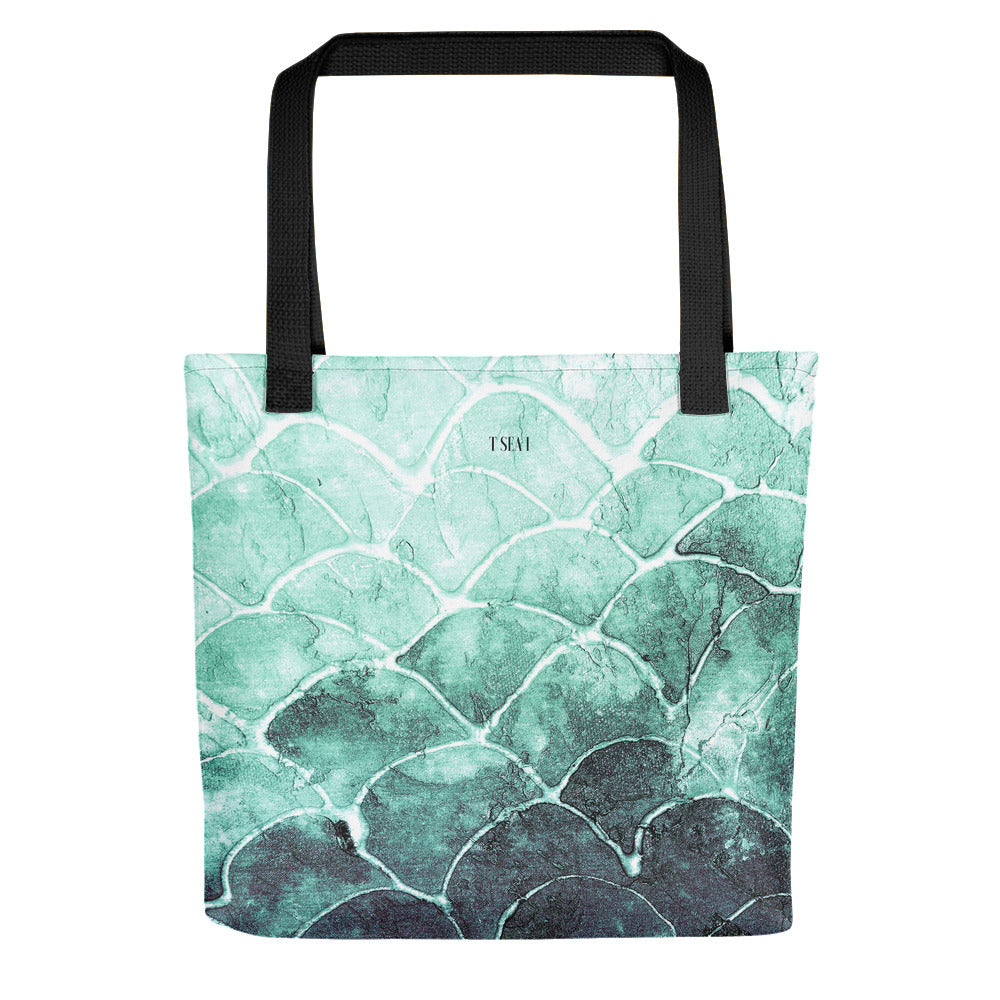Fish Scale turquoise - Tote bag