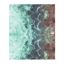 Turquoise Fish scale - Throw Blanket
