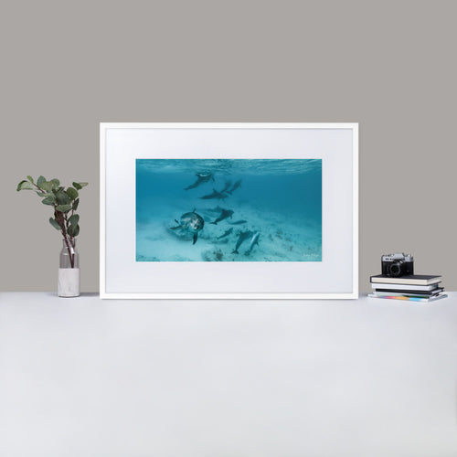As Free as the Sea - Matte Paper Framed Poster With Mat