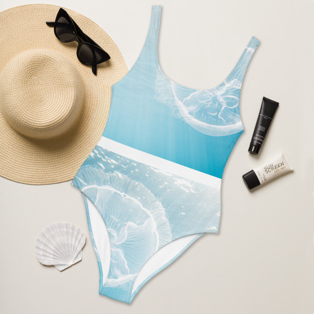 Jelly-Wish - One-Piece Swimsuit - Light Blue