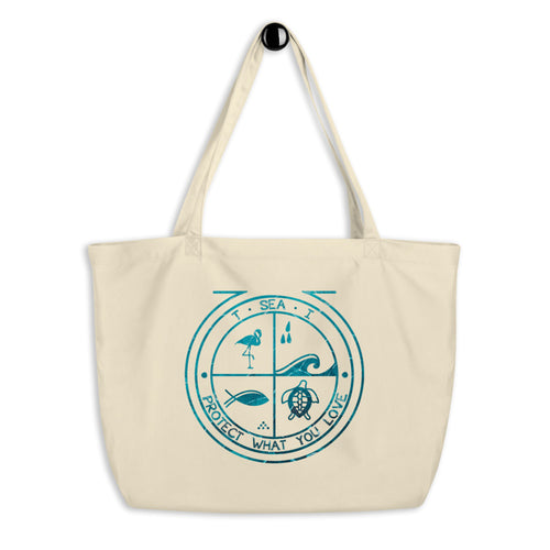T - SEA - I - Eco - Large organic tote bag