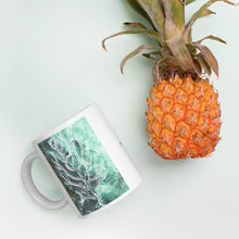 Fish and Sea fan turquoise Mug