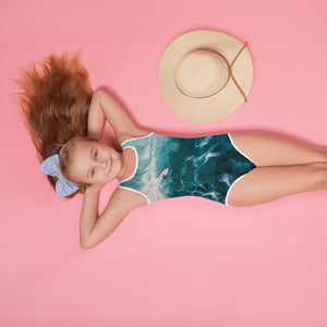Surfin the wave - All-Over Print Kids Swimsuit