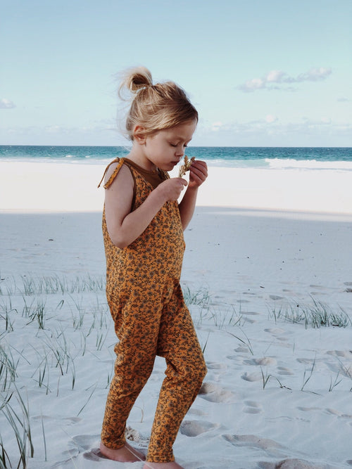 Golden Flower Overalls