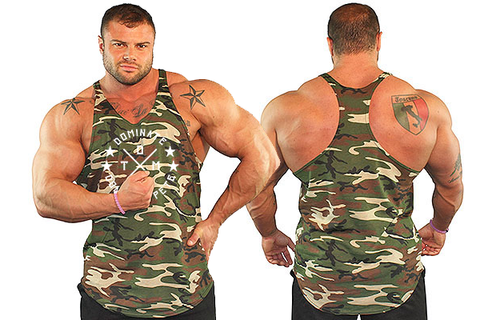Men's Y-Back Stringer Tank Top - Camo