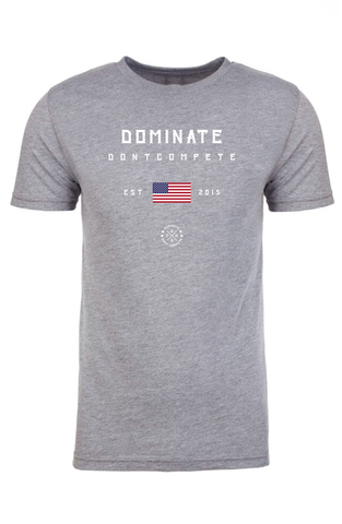 DOMINATE TEE Heather USA