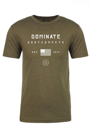 DOMINATE TEE Military Green America