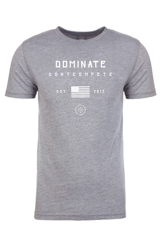 DOMINATE TEE Heather America