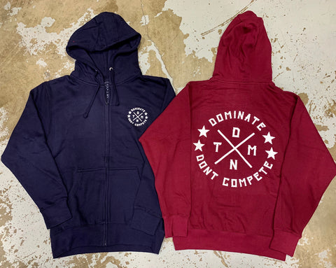 University DMNT Zip Up - Burgundy