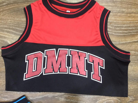 DMNT Crop Jersey - Red / Black