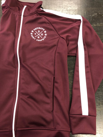 Classic Track Jacket / Burgundy / Woman's