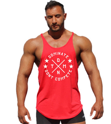 Men's Y-Back Stringer Tank Top - Red
