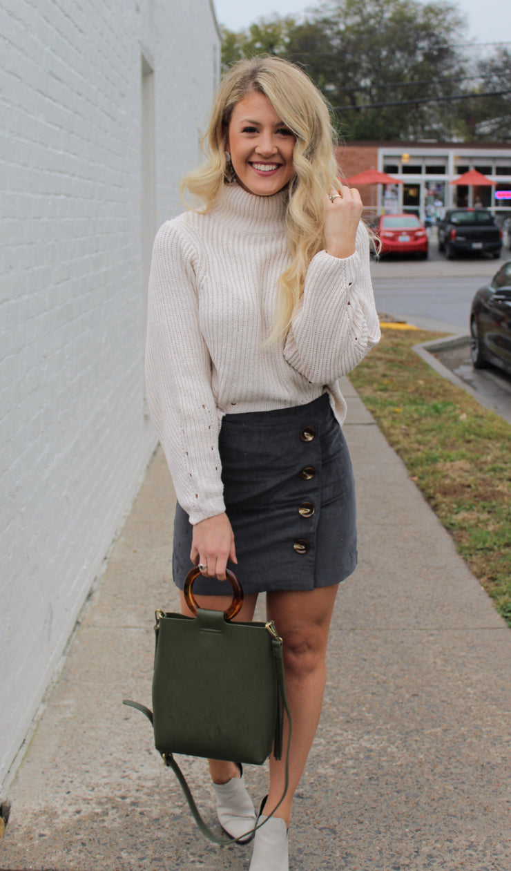 Chey Button Down Skirt