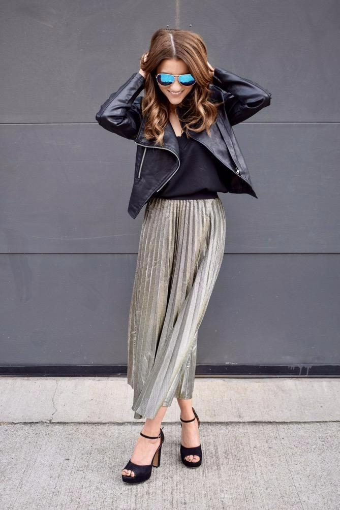 Gold is the New Black Midi Skirt