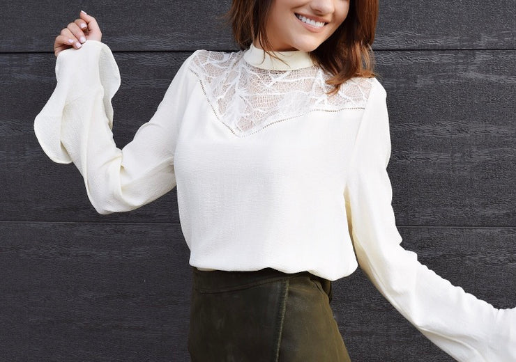 Colby Lace Long Sleeved Top