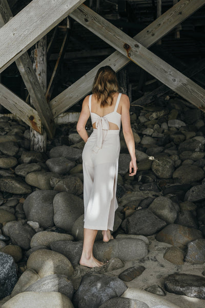 Beach Waves Beige Jumpsuit