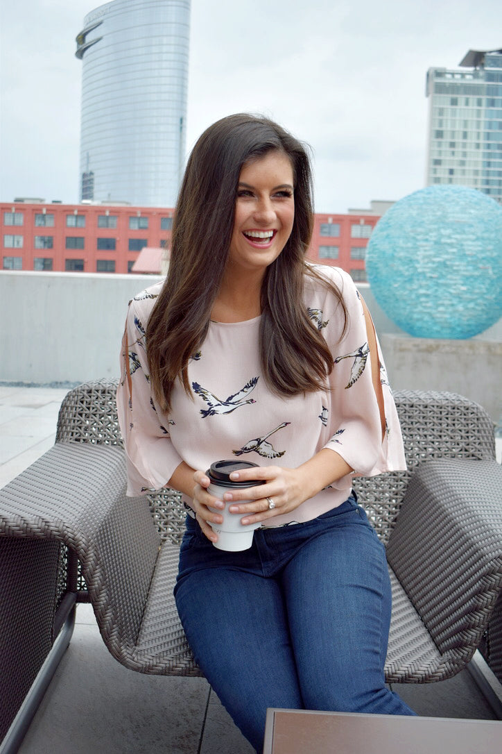 Gabriella Blush Top