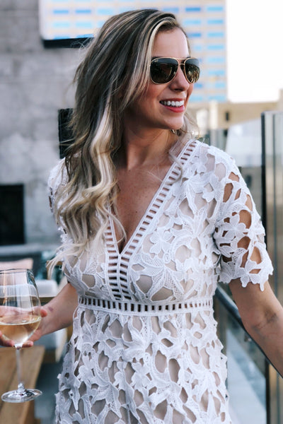 Love You Forever White Lace Romper